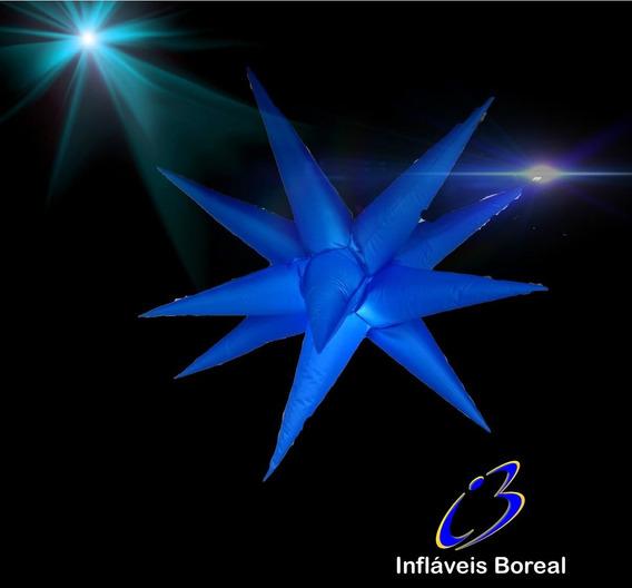 2 Estrelas,11 Pontas, 80cm, Sputinik Completas, Dj, Som