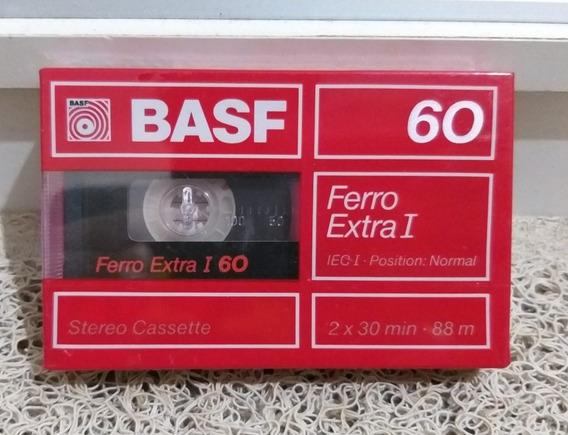 Fita Cassete Basf Ferro Extra I 60 Nova Lacrada Frete R$ 13)