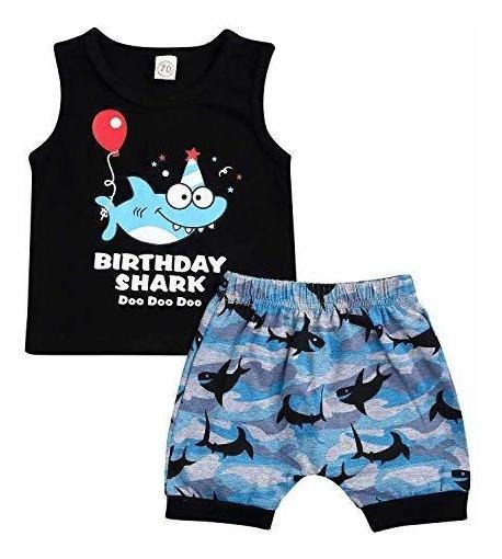 Niño Bebe Niños Niñas Shark Doo Doo Doo Trajes Niño Reci