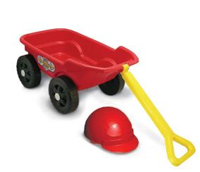 Carrinho De Puxar Infantil Com Capacete Vermelho - Kepler