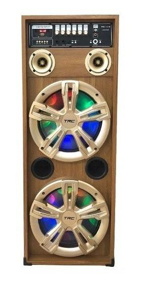 Caixa De Som Trc 479 Amplificada Bluetooth Rádio Fm Usb 450w