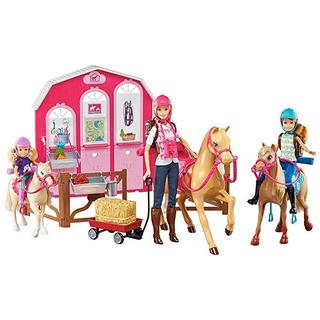 Barbie Original Rosa Passport Set Regalo Caballos Y Ranch