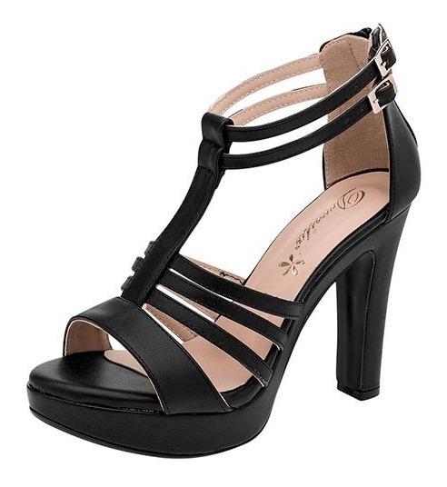 Zapatillas Para Dama De Tacón 11cm Damita Negras 44028ng Poi19
