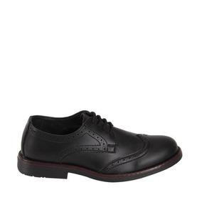 Zapato De Vestir Mirage 9002 Color Negro De Niño