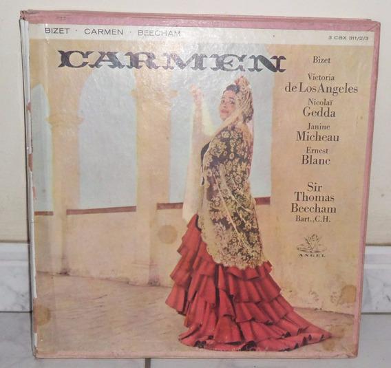 Carmen-bizet- Caixa Com 3 Lps Mono(colecionador-mg)