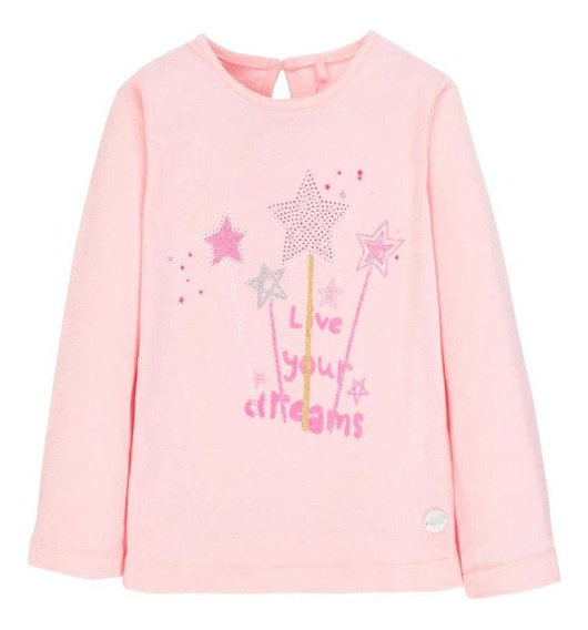 Polera Ml Prim Rosa 4kids