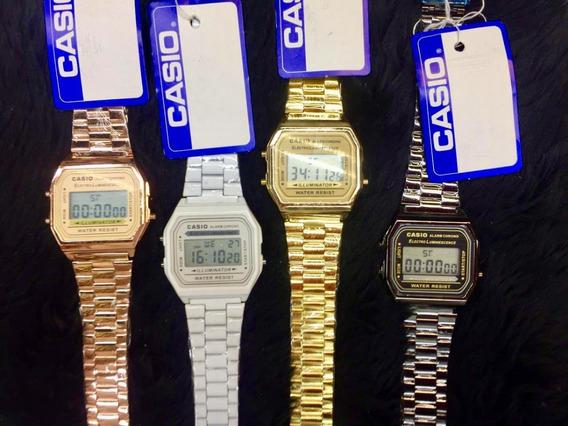 Lote 10 Relojes A168 Metal Colores Calidad Mejorada Pesados