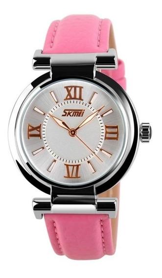 Relógio Feminino Skmei Analógico 9075 Rosa