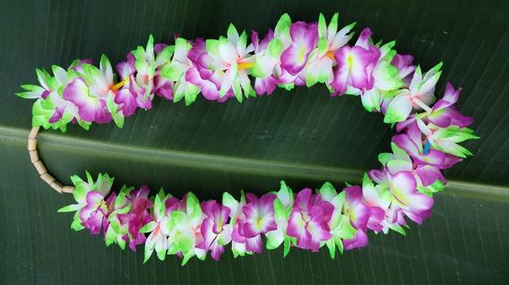 Colar Hawaiano Maoli ´´purple Green´´