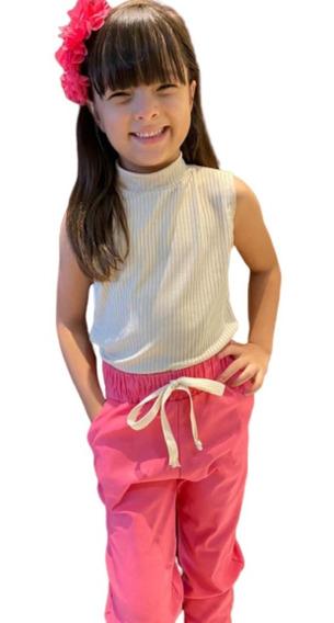 5 Conjuntos Infantil Meninas Crianças Juvenil De 1 A 12 Anos