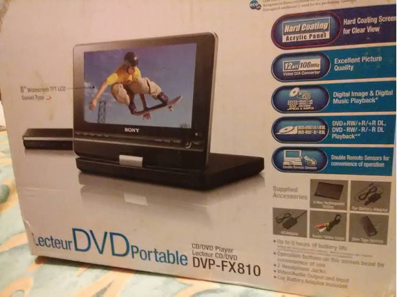 Dvd Portatil Sony Dvp-fx810