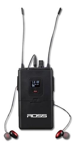 Imagen 1 de 8 de Sistema Monitoreo Intraural Ross Fum-01 - Uhf Digital In-ear