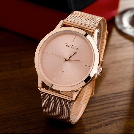 Relógio Feminino Womage Rose Gold