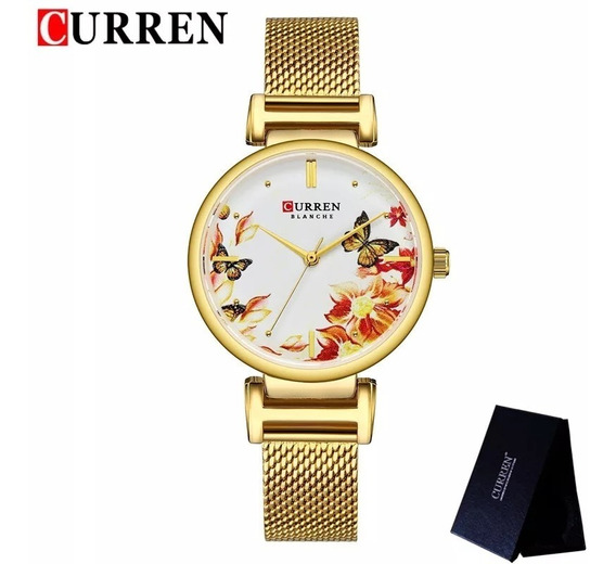 Relógio Curren Charme Luxo Feminino Original Promoção