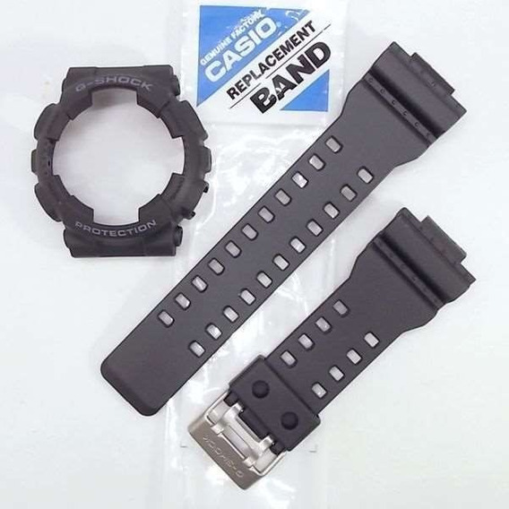Kit Pulseira + Bezel Casio G-shock Ga-110-1b 100% Autêntico