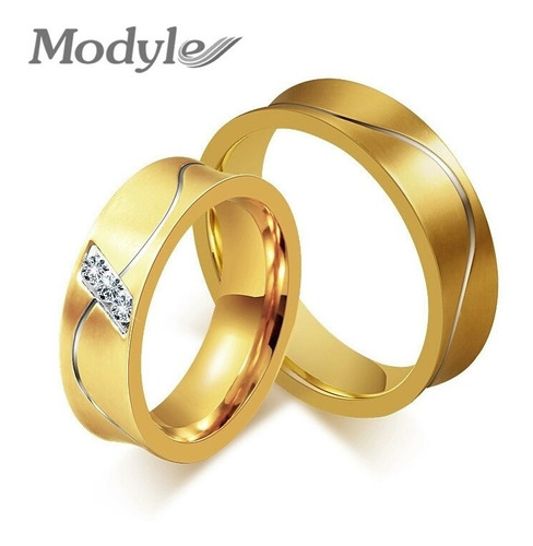 Imagen 1 de 1 de Anillos De Matrimonio Oro 18k Boda Plata Aniversario