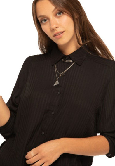 Camisa De Mujer Ossira Rayada Básica