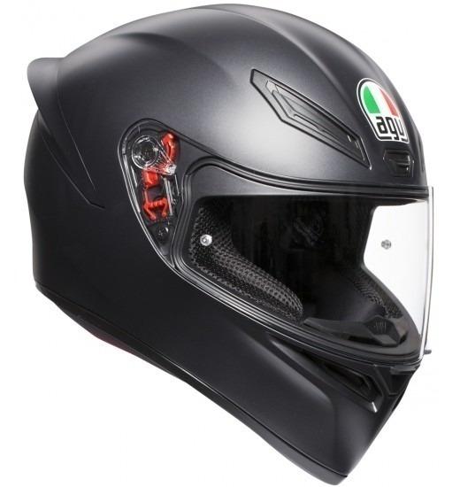 Casco Agv K1 Chas Solid Matt Black Integral - Fas Motos Full