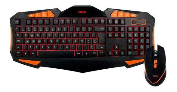 Combo Gear Oex Tm301 Mouse 7 Bot.4000 Dpi Teclado Blacklight