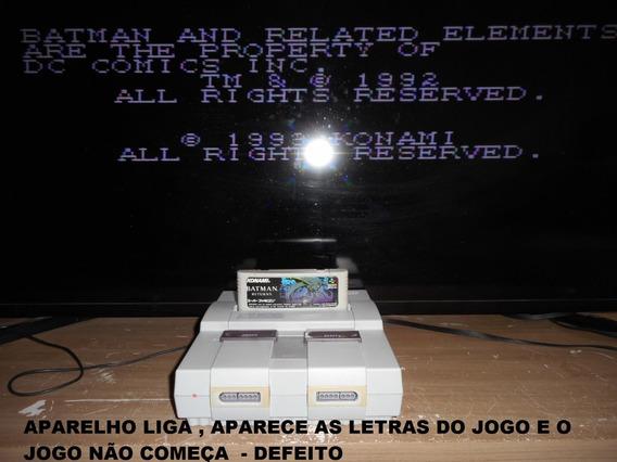 Super Nintendo - Só O Console - Ler Anúncio