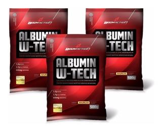 Combo 3x Albumina 500g = 1.5kg - 24g De Proteina- Bodyaction