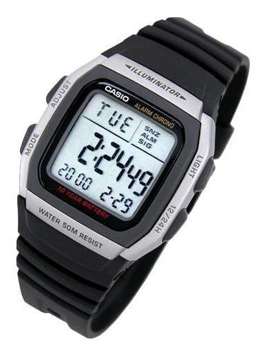 Relogio Casio Digital W-96h 1av Alarme Crono Wr.50m Original