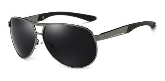 Óculos De Sol Hdcrafter Masculino Aviador Original - Cinza