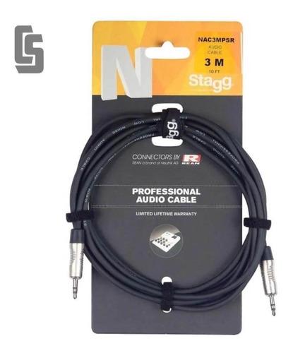 Imagen 1 de 3 de Cable Profesional Stagg Nac3mpsr -mini Plug Stereo- 3 Mts