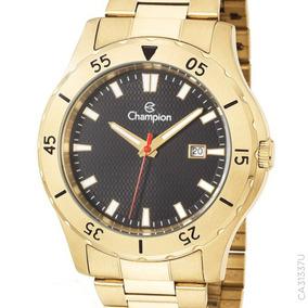 Relógio Champion Dourado Masculino Ca31337u Original + Nf