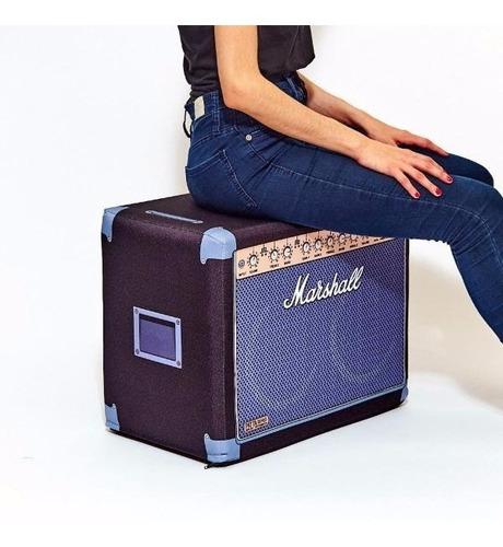 Puff Con Diseño Amplificador Marshall Moderno Los Originales