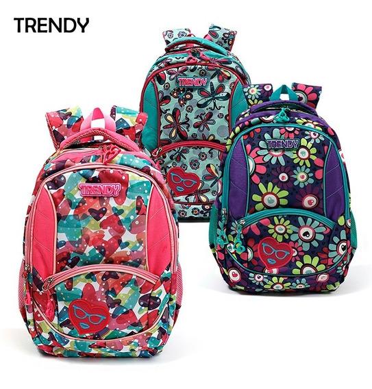Mochila Trendy Escolar Estampada Original 9987