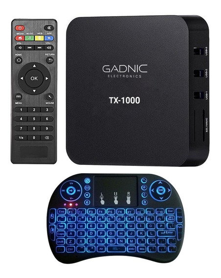 Android Tv Box Pc Smart 4k Kit Teclado Hdmi Quadcore 8gb