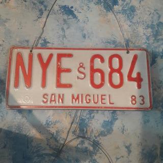 Patente Auto Antigua San Miguel