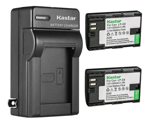 Imagen 1 de 3 de Cargador + 2 Baterías Lp-e6 Canon Eos 5d Mark Ii