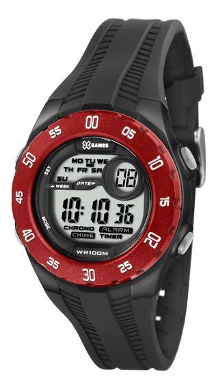 Relógio X-games Unissex Digital Xkppd025 Bxpx Vermelho