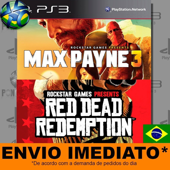 Jogo Ps3 Max Payne Complete Edition 3 + Red Dead Redemption