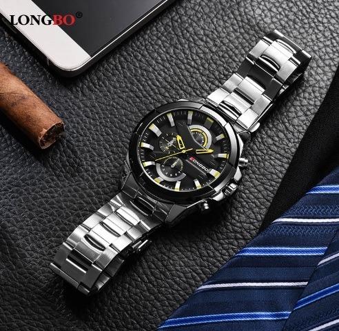 Relógio Da Marca Longbo Moderno Elegante Excelente.