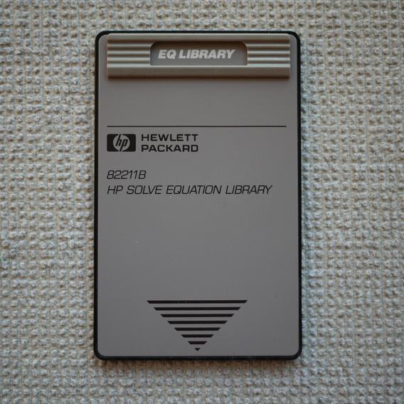 Cartão Hp Solve Eq. Library 82211b P/ Calculadora 48sx 48gx