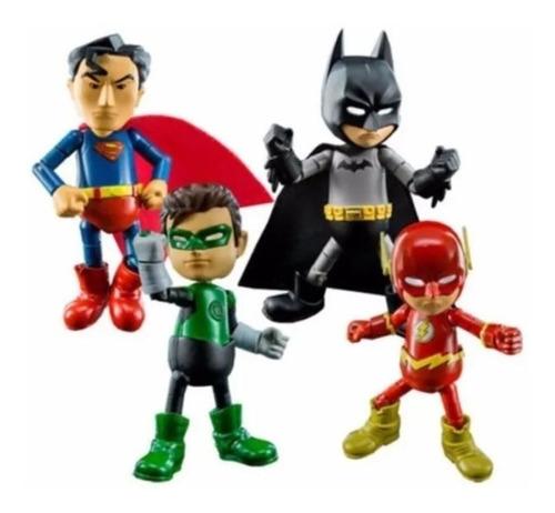 Herocross Kit Mini Hmf Dc Liga Da Justiça Batman Flash 8cms