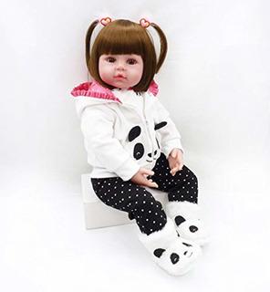 Muñeca Reborn Realista Con Atuendo De Osito Panda - Pinky