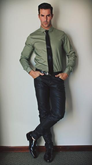 Promoción Look Jean Chupin Engomado + Camisa Lisa De Vestir