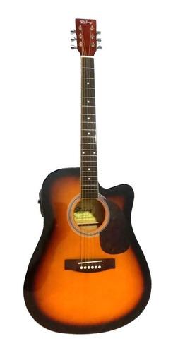 Guitarra Electroacustica Jumbo Importada Sunburst Eq4 Bandas