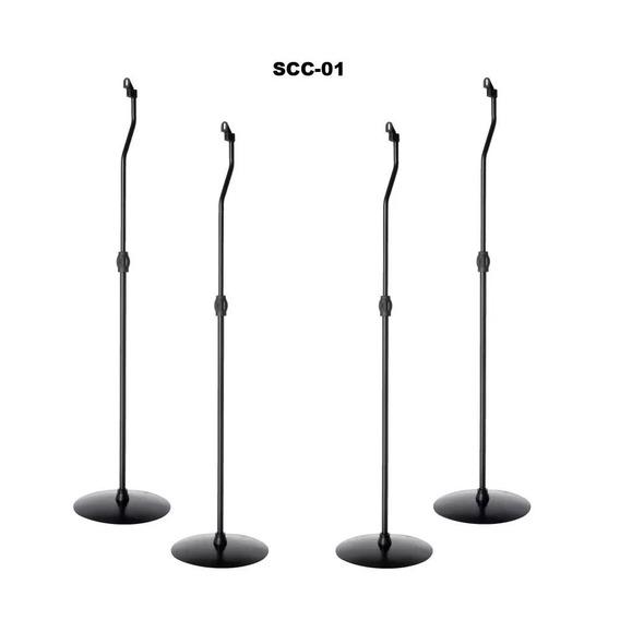 Kit Com 4 Suporte Caixa De Som Para Home Theater Pedestal