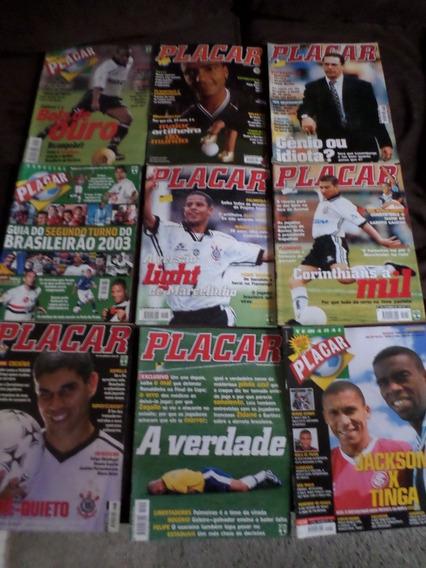 Lote Com 9 Revistas Placar Inter São Paulo Palmeiras Corinth