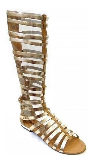 Sandalia Gladiadora Confort 510035 Piccadilly (13) - Ouro