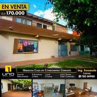 Casa En Venta, Zona Sur, Zona Santos Dumont 5to Anillo