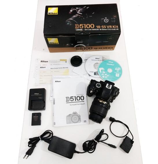 Câmera Nikon D5100 + Lente 18-55 + Acessórios Diversos