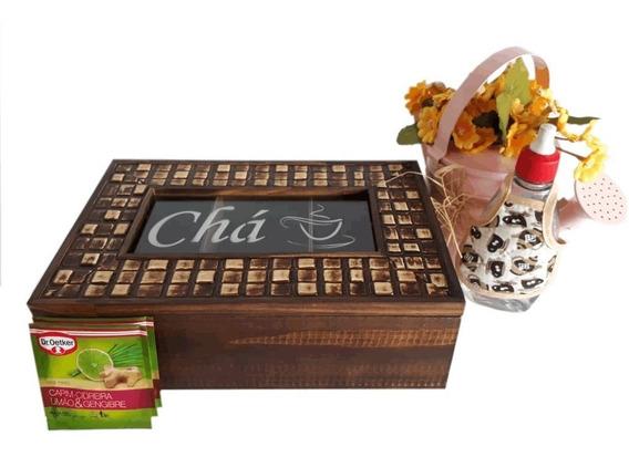 Caixa Estojo Organizador Porta Chá Sachês Super Luxo