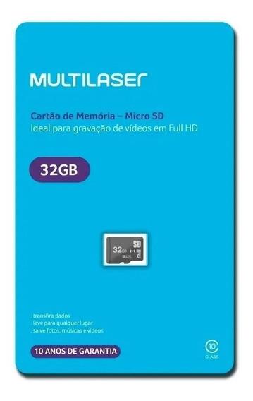 Cartão De Memória Micro Sd 32gb Classe 10 Lacrado Full Hd