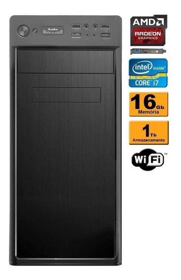 Computador Intel Core I7 16gb Ram 1tb Vídeo Radeon 2gb Wifi